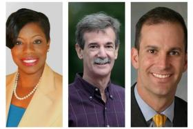 State House Del. Aisha Braveboy, State Sen. Brian Frosh, and State Del. Jon Cardin are vying for the Democratic nomination for Attorney General.