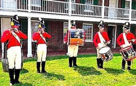 Old-School beats:  The Fort McHenry Guard Fife & Drum Corps in action