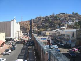 The U.S./Mexico border at Nogales, AZ.