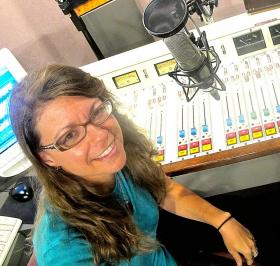 Beth Barbush, at the WYPR studios