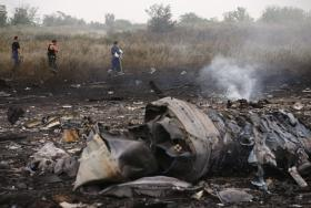 Remains of the Malaysian plane shot down in Ukraine.