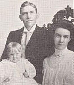 author Katherine Cottle's great-grandparents, Peter and Nellie Sundwall, photographed with their first child