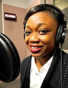 Evodie Ngoy, at the WYPR studios