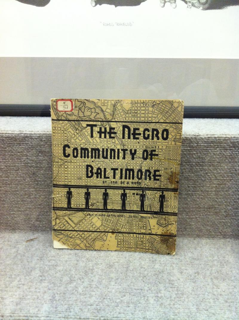 "From ""Keeping It Real,"" a 1935 report ""The Negro Community of Baltimore."""
