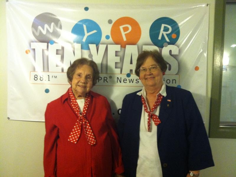 Wilma Foster (l) and Ann Marie Miller (r.)
