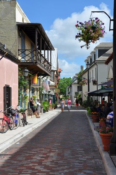 "Dover's pick for the best historically narrow street: Aviles Street in St. Augustine, Fla. ""It's intimate! Pedestrians set the pace."""