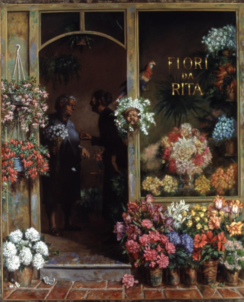"""Fiori da Rita"" by Joe Sheppard. Size is 83"" by 69."""