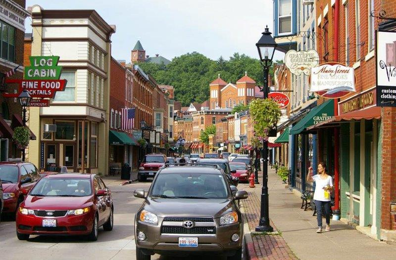 "Dover's favorite small-town Main Street is Main Street in Galena, Il because of its shape. ""It's like an 'outdoor room.' It's proportioned for comfort and commerce."""