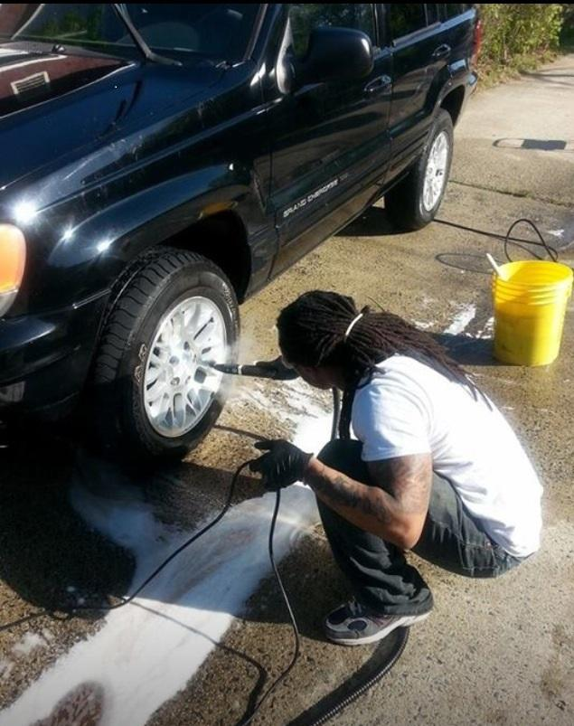 Williams is in the process of starting his own car detailing business.