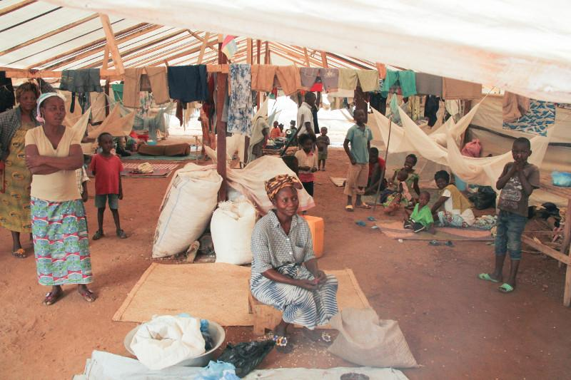 In December of last year,a parish in the Central African Republic's capital of Bangui was turned into a displacement camp when thousands of people from the city's neighborhoods sought refuge there.