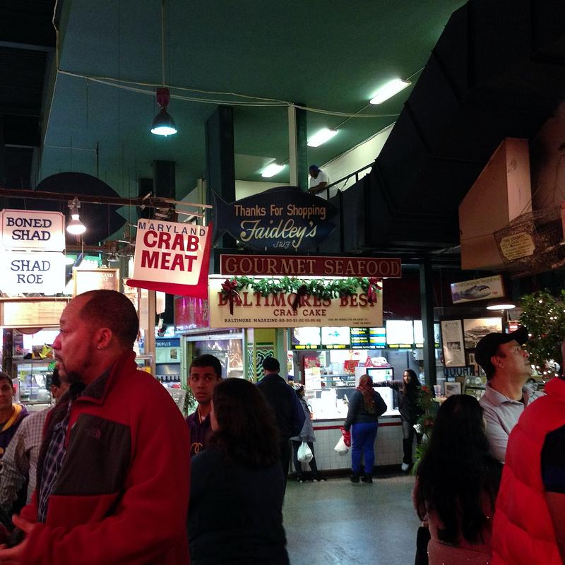 Faidley's fish market is one of the market's most popular merchants.