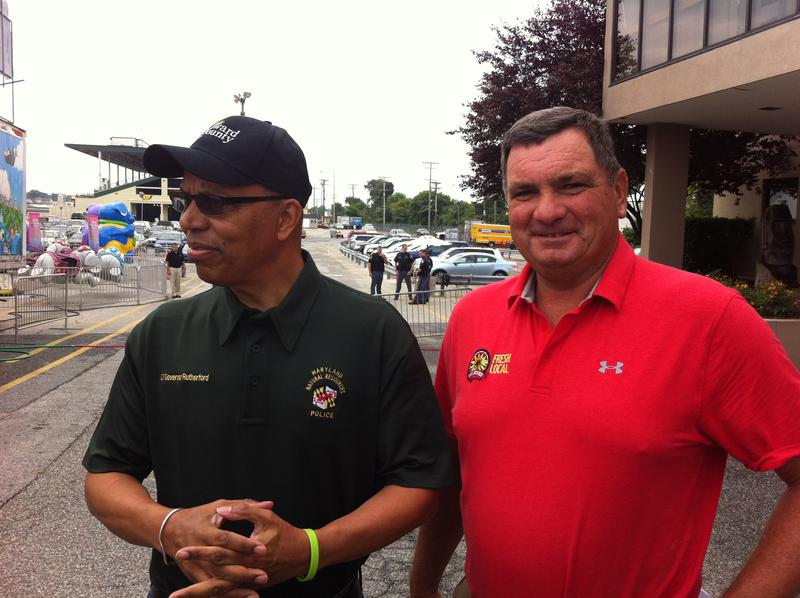 Maryland Lt. Governor Boyd Rutherford and Agriculture Secretary Joe Bartenfelder at the Maryland State Fair.