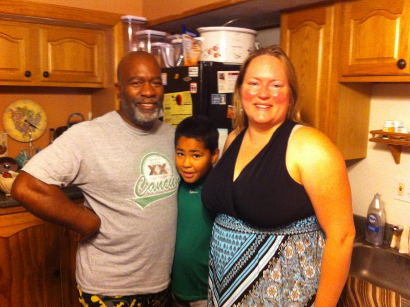 Drew Lee, Heather Garner and their son, James,