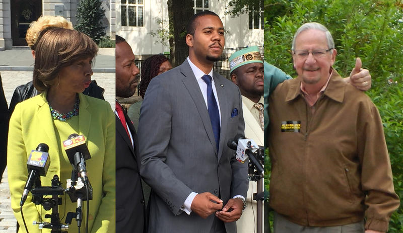 State Sen. Catherine Pugh (D), Joshua Harris (Green) and Alan Walden (R) are vying to become the next mayor of Baltimore
