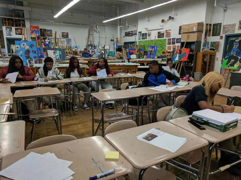 Students in Athanasia (Sia) Kyriakakos' class