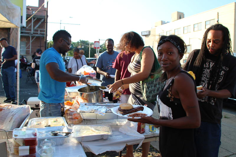 Serving burgers, ribs and dogs Friday at Erdmand Avenue and Belair Road