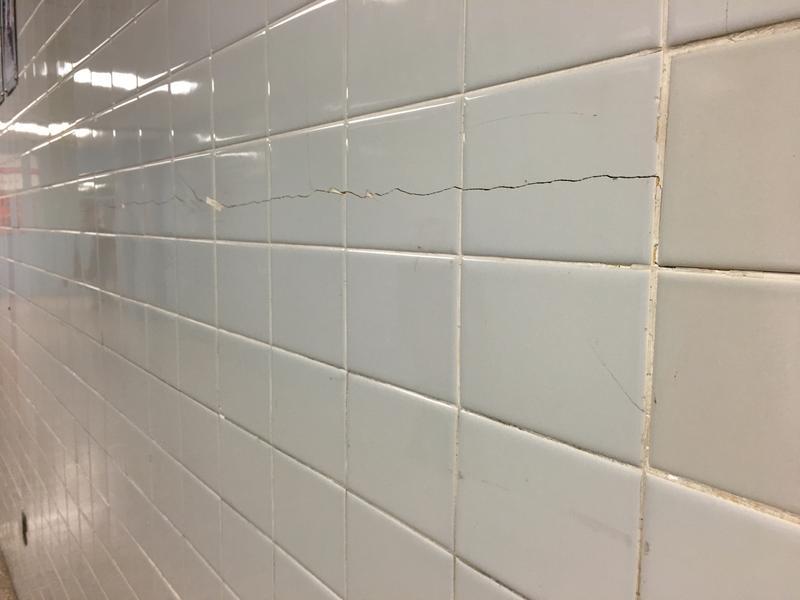 Cracked tile at Lansdowne High
