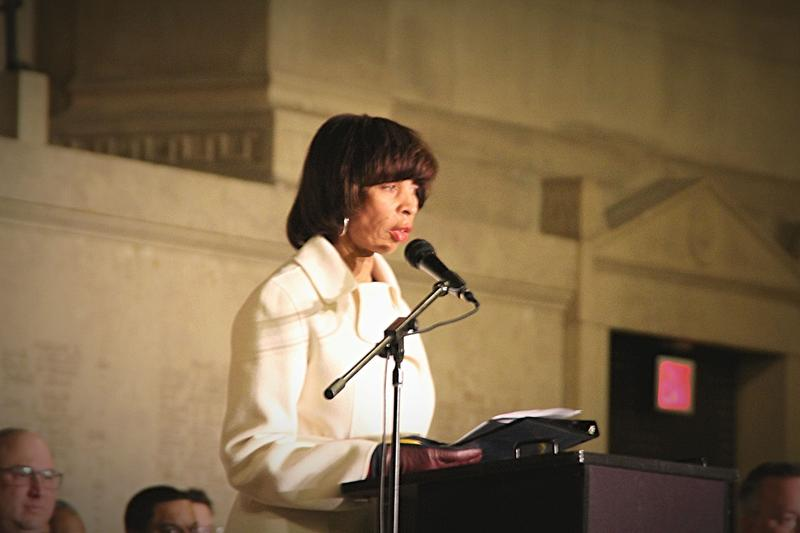 Mayor Catherine Pugh welcomes victims of gun violence.