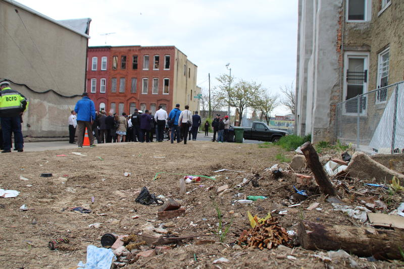 Illegal dumping is taking place next to strings of vacant homes, according to 50-plus-year resident, Annie Hall, president of the Penn/North Community Association.