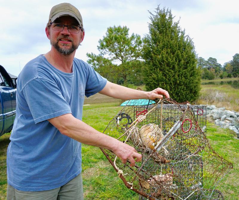 Daniel Knott and his failing crab pot