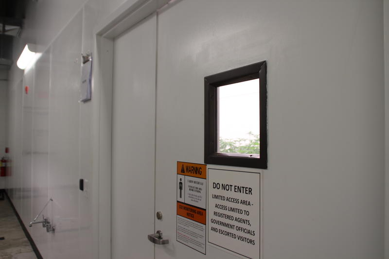 Inside of Culta's Cultivation Center each door requires key access for entry as part of heavy security regulations.