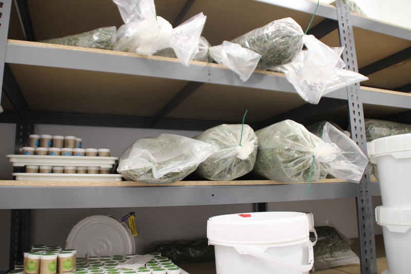 Once harvested, the cannabis is placed in the vault and ready to be shipped off to the dispensaries around the state.