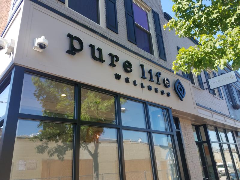 Pure Life Wellness on Cross Street in South Baltimore is equip with security cameras.