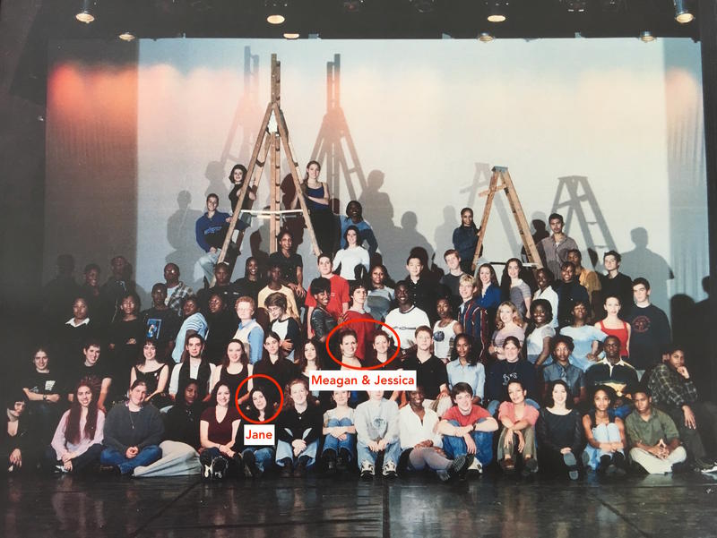 Baltimore School for the Arts Class of 2000 with Jane Bloom, Jessica Asch and Meagan Lopez