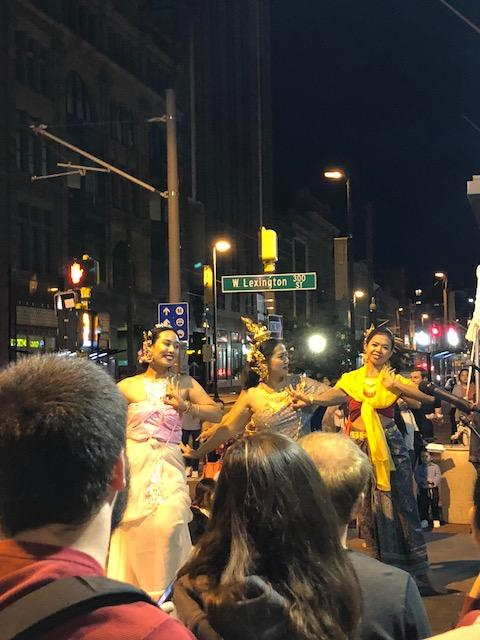 Dancers perform at the Charm City Night Market