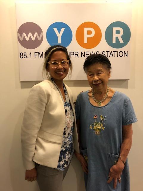 Stephanie Hsu and Katherine Chin at WYPR's studios