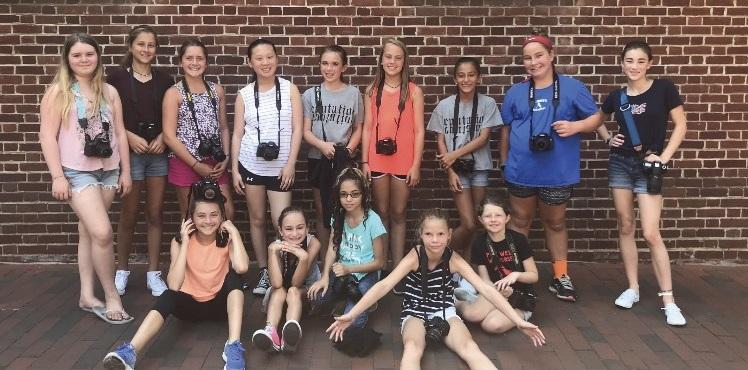 Participants in Fearless Girls Photography's 2018 summer camp.