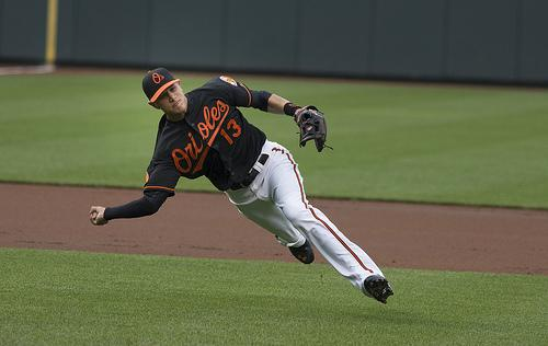 Orioles third baseman Manny Machado, who is up for a Gold Glove award.