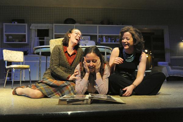 Beth Hylton as Lenny, Dorea Schmidt as Babe, and Megan Anderson as Meg.