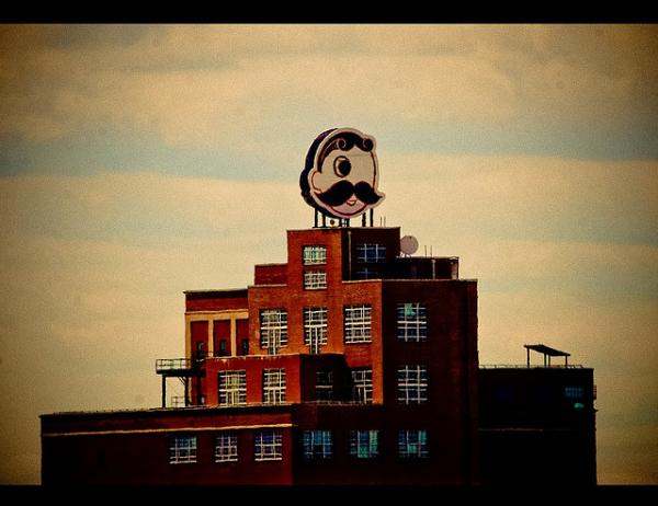 The Natty Boh Tower in Brewer's Hill
