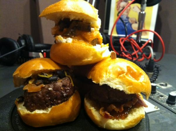 Some of Chef Sascha's burgers.