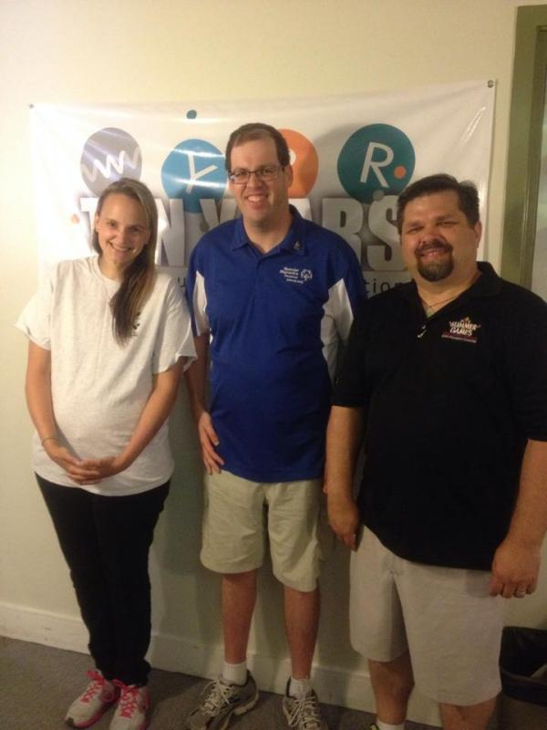Soccer player Tammy Holibaugh, Cyclist Adam Hayes and Special Olympics VP of Communications Jason Schriml.