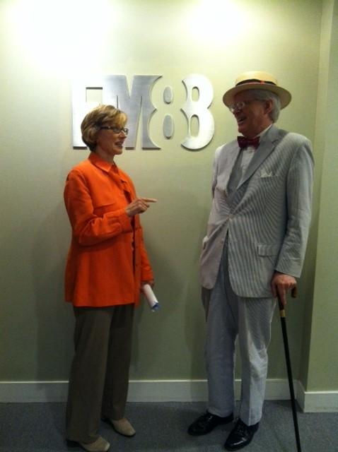 Sheilah Kast and the dapper John McIntyre.