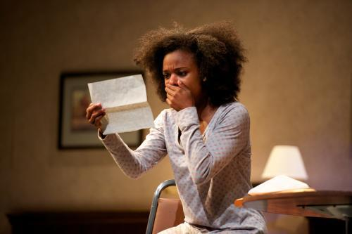 "Kaliswa Brewster plays an Iraq War veteran in ""One Night,"" by Charles Fuller."