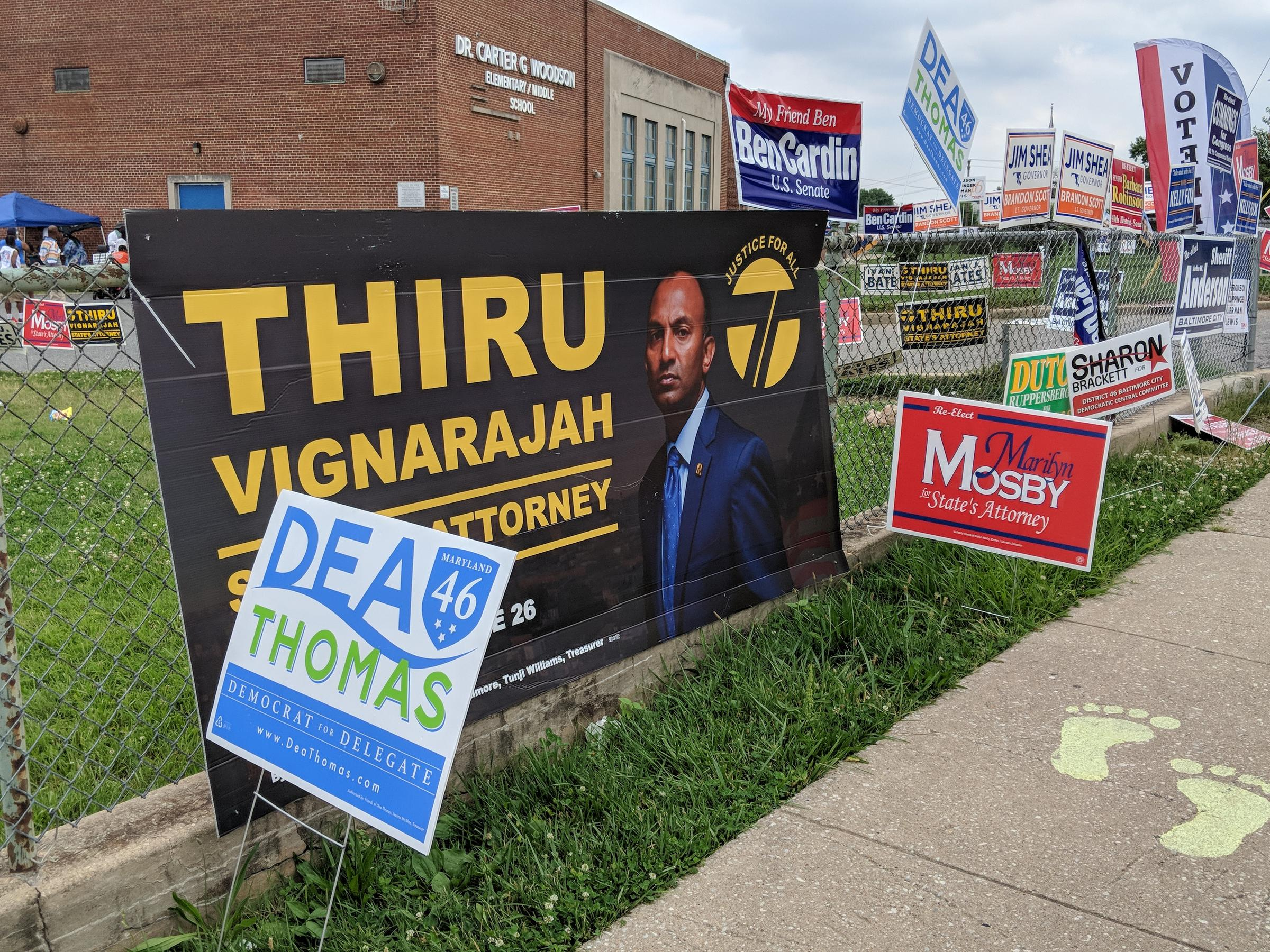 2018 md. Primary guide: crowded field of candidates seek.