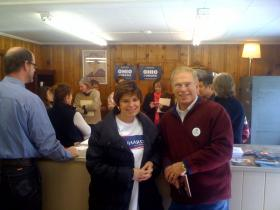 Democratic candidate for Congress, Sharen Neuhardt and former Governor Ted Strickland.