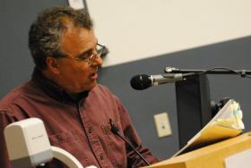 Jerry Dennis reading at the 2012 Antioch Writers' Workshop.