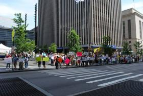 Protesters in Cincinnati rally against the IRS