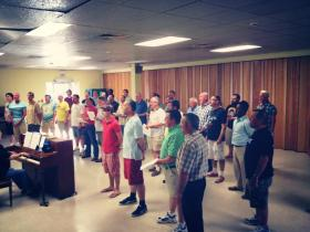 The Dayton Gay Men's Chorus Rehearses for Their Upcoming Concert.