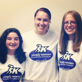 Organizers for Simply Women of Ohio. (from left) Alice Miller, Paloma Wiggins and Molly Hendrickson