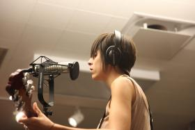 Katrina Eresman of Strangewave performing live on Kaleidoscope