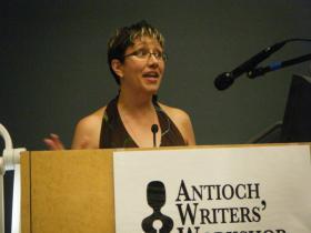 Jen Violi at the Antioch Writers' Workshop