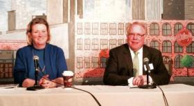 Nan Whaley and AJ Wagner at a recent candidates' forum.