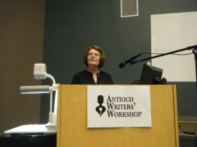 Cathy Essinger at the Antioch Writers' Workshop