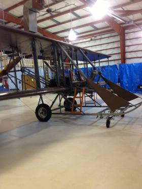 "Inside the Wright ""B"" Flyer Hanger at Wright Brothers Airport"