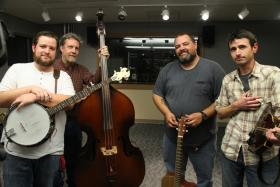 (from left) Max Nunery, Chip Pritchard, Harold Hensley and Brian Spirk of The Repeating Arms